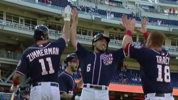 Error lifts Nats in opener after Navy tragedy