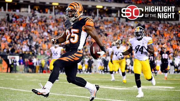 Video - Bernard Leads Bengals Past Steelers