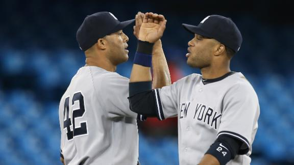Yanks erase 3-run deficit vs. Jays, end skid