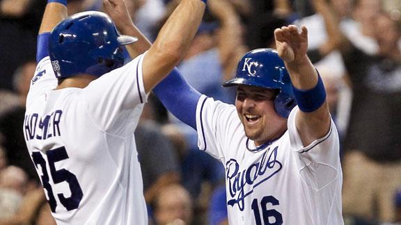 Royals top Indians, tighten wild-card race