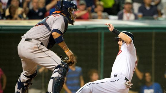 Indians edge Astros in rain-shortened game