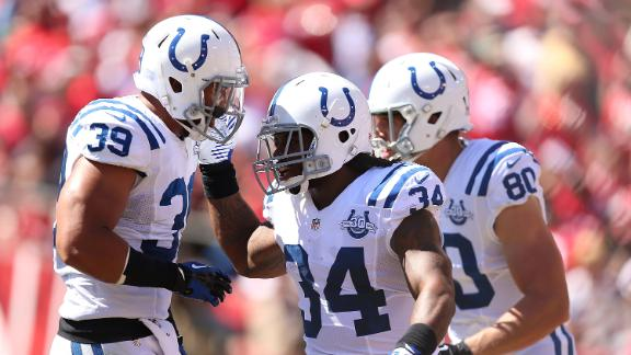 Luck, Colts send Niners to 2nd straight loss