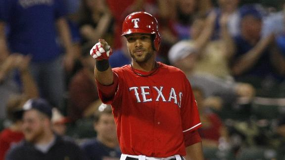 Rios hits for cycle as Rangers trounc