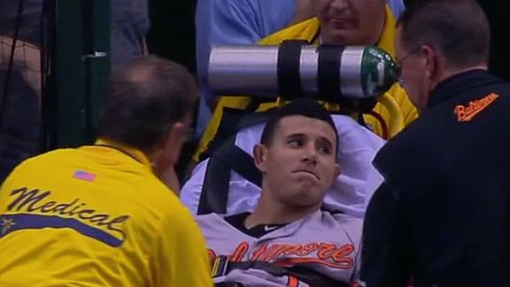 Video - Machado's Ugly Leg Injury