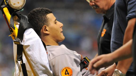 Machado tears ligament, may avoid surgery