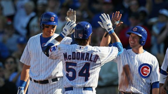 Video - McDonald's Three-Run Shot Lifts Cubs
