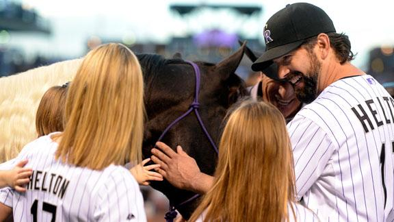 Video - Helton Honored In Rockies' Loss