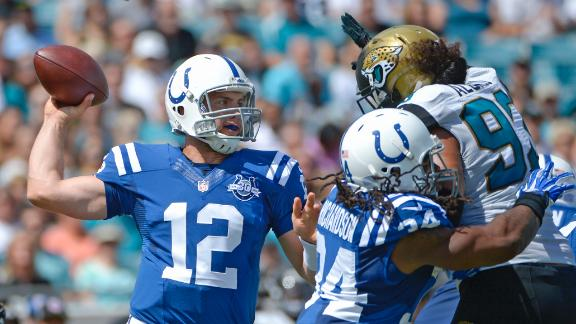 Luck, Colts hand Jags another lopsided loss