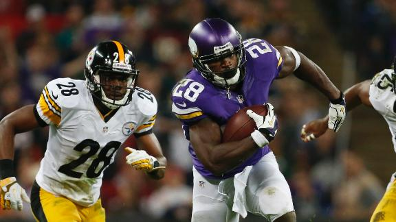 Video - Peterson, Vikings Top Steelers For First Win