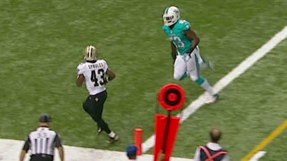 Video - Saints Lead Dolphins At The Half