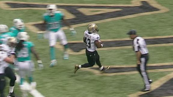 Video - Saints Lead Dolphins After 1st Quarter