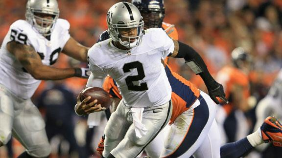 Raiders' Pryor to start; Flynn now 3rd string