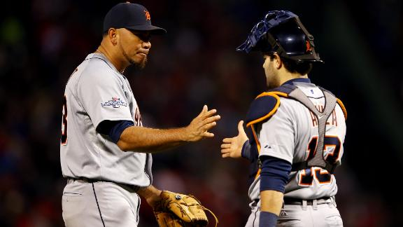 Tigers lose no-hitter in 9th, edge Red Sox