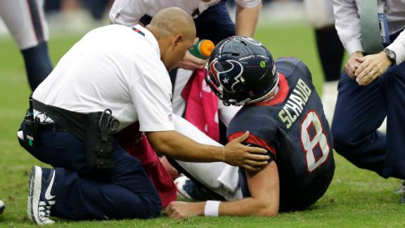Matt Schaub on the floor with an ankle injury