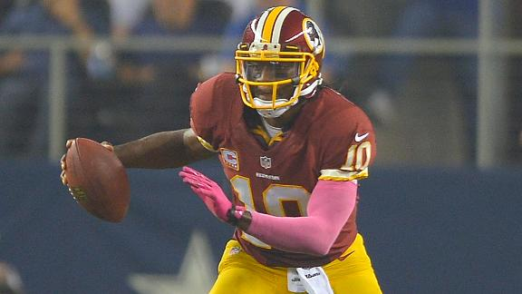 RG III aims to draw flags on sideline runs