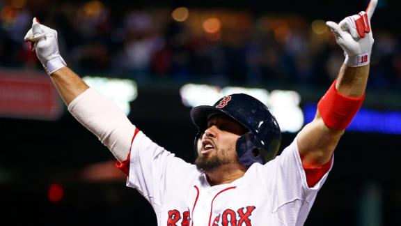 Victorino's slam sends Red Sox to Series