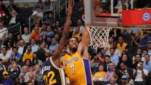 Video - Lakers Return From China To Top Jazz