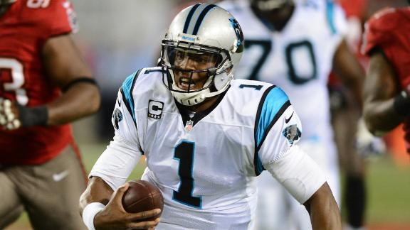 Newton, Panthers cruise past winless Bucs