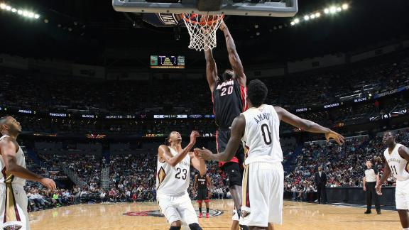 Video - Oden Dunks In Heat's Win