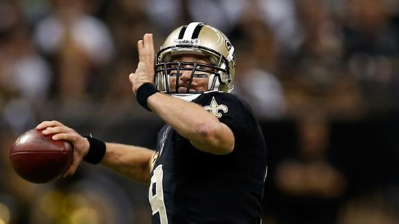 Brees throws 5 TDs as Saints roll past Bills