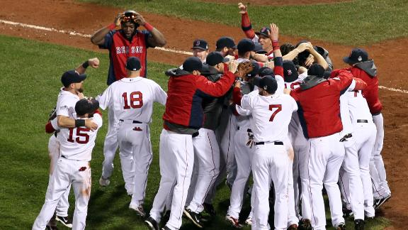 Red Sox close out Cards, clinch title at Fenway