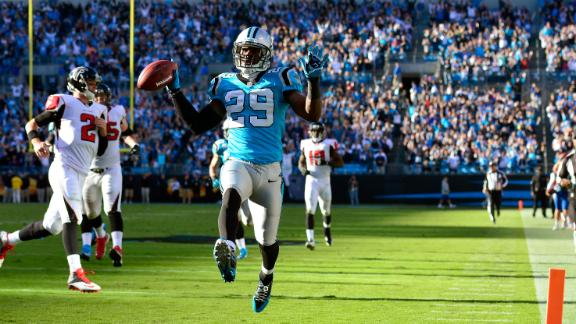Panthers rout Falcons for 4th straight win