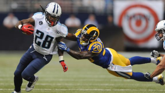 Titans rumble past Rams as Johnson shines