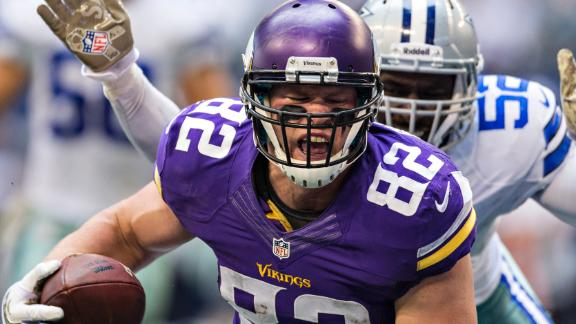 Vikes' Rudolph out month with foot fracture