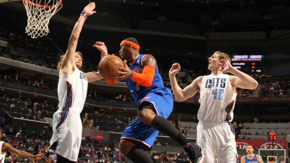 Knicks roll Bobcats in Ewing debut as coach