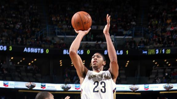 Davis' career game lifts Pelicans vs. Lakers