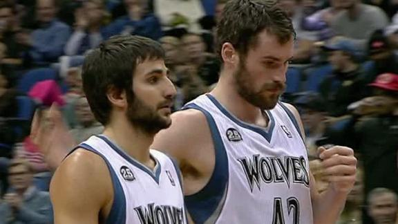 Love flirts with triple-double, powers Wolves