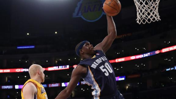 Randolph, Griz hold off Lakers down stretch