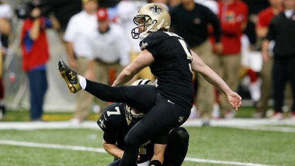 Saints' faith in Garrett Hartley pays off
