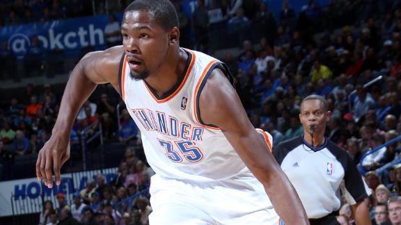 Durant scores 38 as Thunder down Nuggets