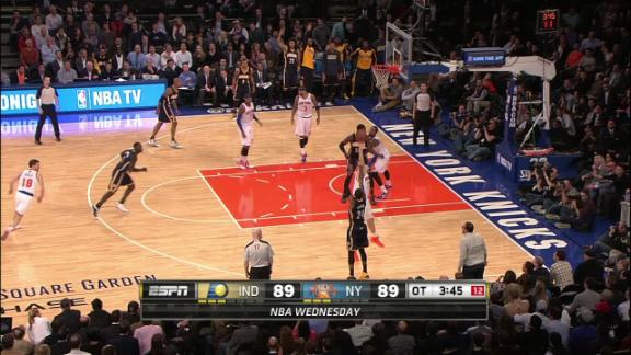 Video - Paul George 3 pointer in overtime Pacers lead 92-89