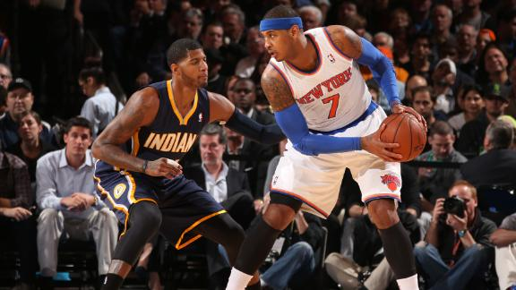Melo not getting superstar calls, coach says
