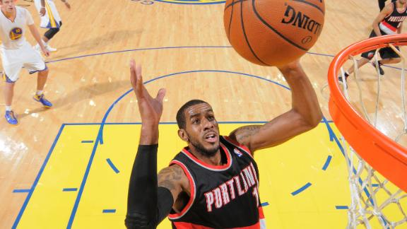 Blazers best Warriors for 10th victory in row