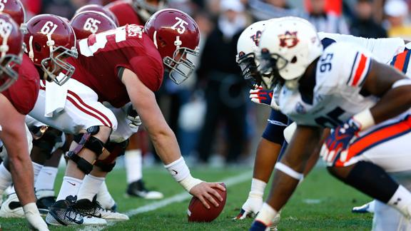 Alabama & Auburn In Iron Bowl