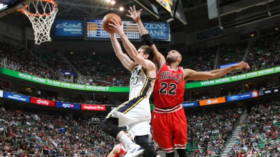 Burke, Jazz snag OT win over Rose-less Bulls