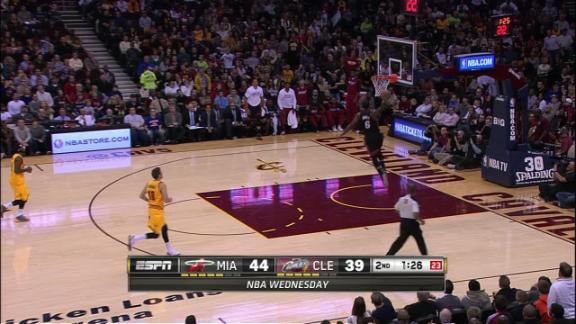 Video - LeBron With Steal And Jam Vs. Cavaliers