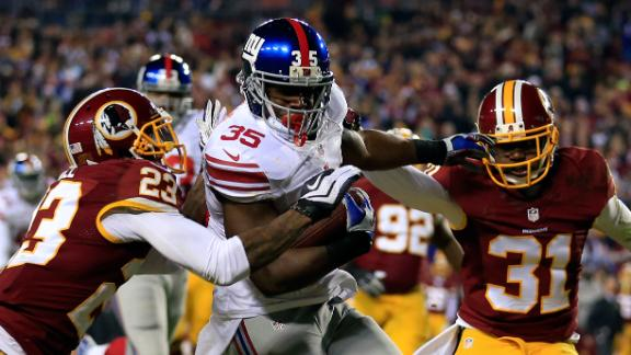 Giants bottle up RG III late to top Redskins