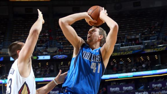 Nowitzki key late as Mavs slip past Pelicans