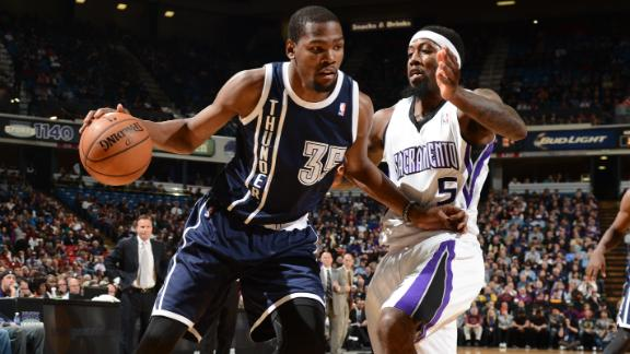 Durant, OKC hold off Kings' late challenge