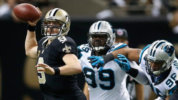 Brees, Saints bounce back, pound Panthers