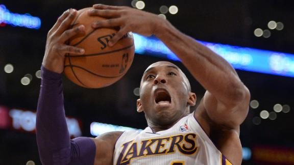 Kobe has 9 in return as Lakers fall to Raptors