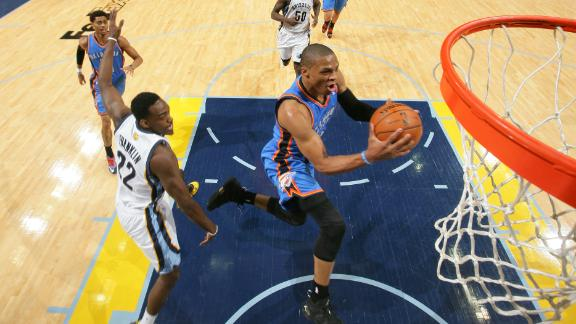 Westbrook, streaking Thunder beat Grizzlies