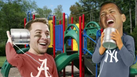 AJ McCarron Talks To Alex Rodriguez