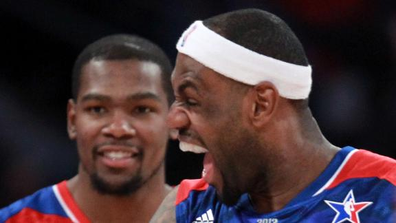 LeBron, Durant early leaders in All-Star voting