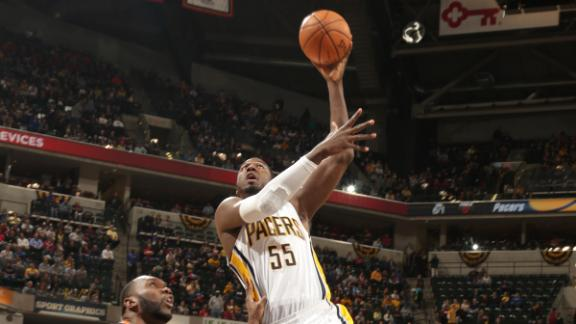 Video - Hibbert, Pacers Muscle Past Bobcats
