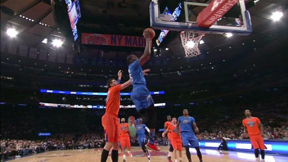 Video - Westbrook, Durant Connect On Alley Oop